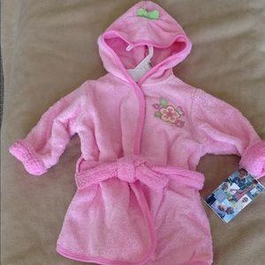 New baby girl bath robe 0-9 months